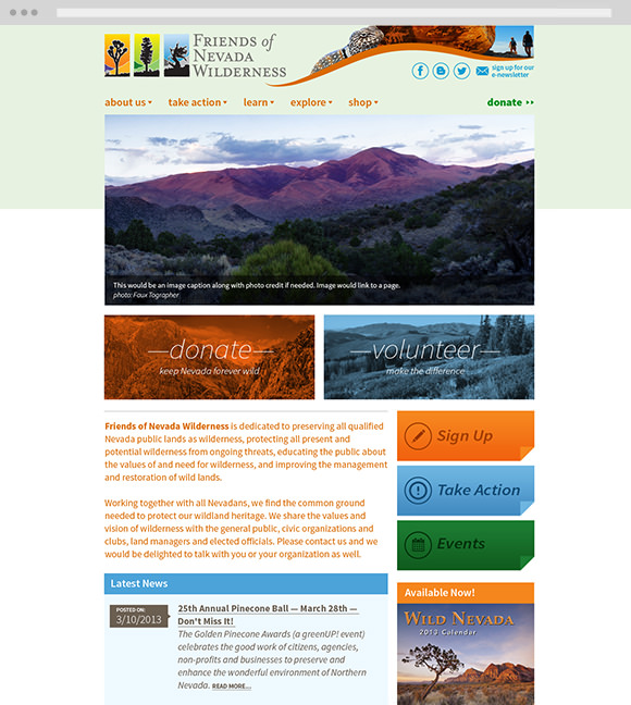 friends of nevada wilderness homepage