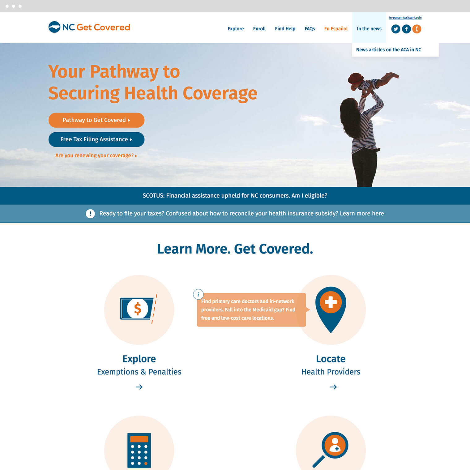 nc get covered site